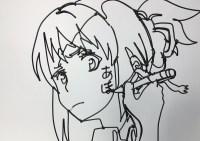 え?この「君の名は。」の三葉ちゃん、絵じゃないの?よく見ると・・・