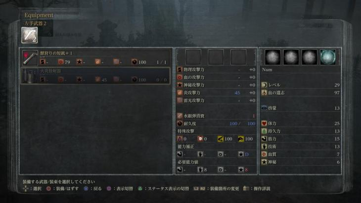 【ブラッドボーン】武器の詳細で攻撃力の隣に書いてある+数字は何の攻撃力の数値なのでしょうか?【Bloodborne】