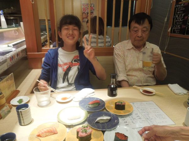 Yuko & Mr. Koseki chowing down!