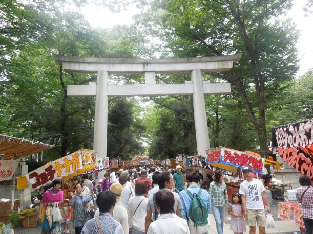 Celebrating the festival at the Fuchu shrine!