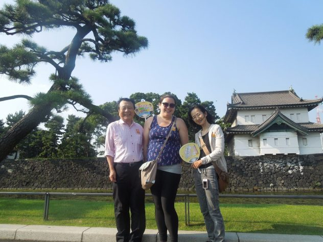 With my host parents outside the palace