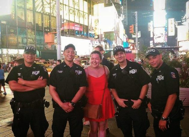 Hanging with the NYPD in Time Square!