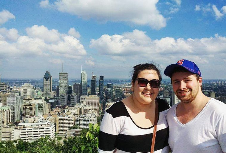 Overlooking Montreal from Mt. Royal