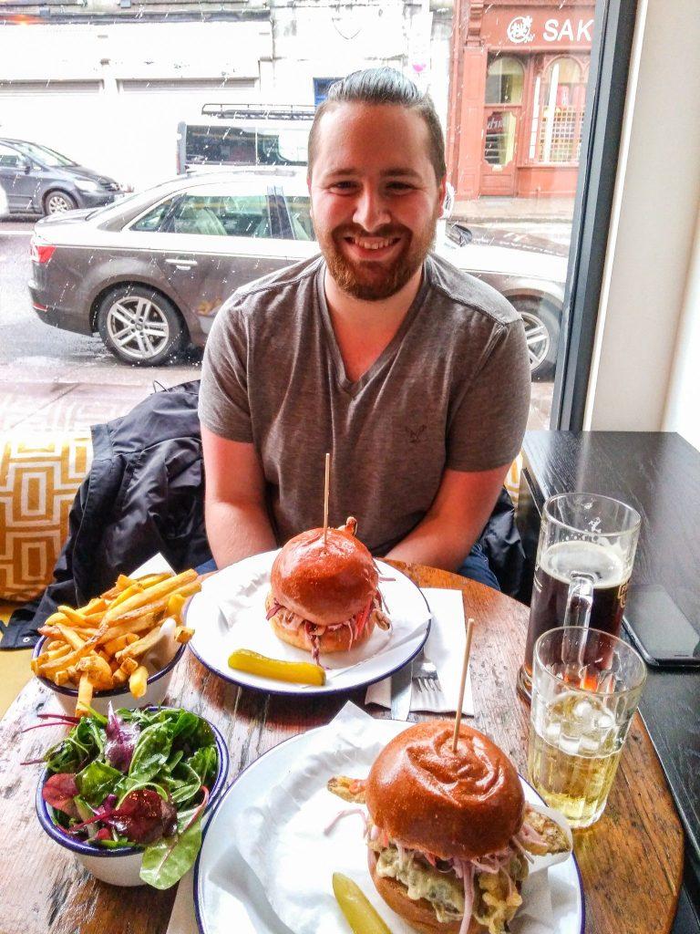 first trip to Ireland - enjoying pub food