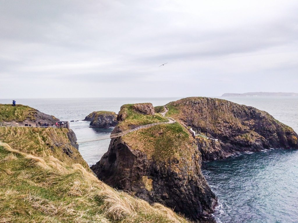 Carrick a rede rope bridge in Northern Ireland