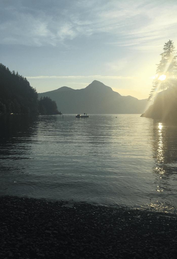 Camping at Porteau Cove, BC