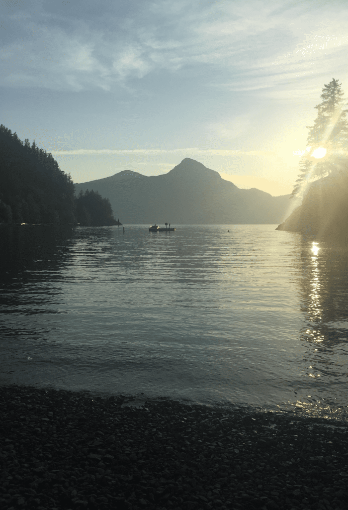 Camping at Porteau Cove, BC