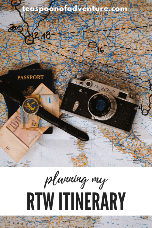 How to plan a RTW trip itinerary and what places in the world I want to see most! #travel #rtw #tripplanning
