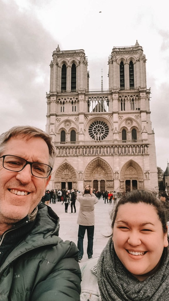 Travelling with my dad to the Notre Dame in Paris