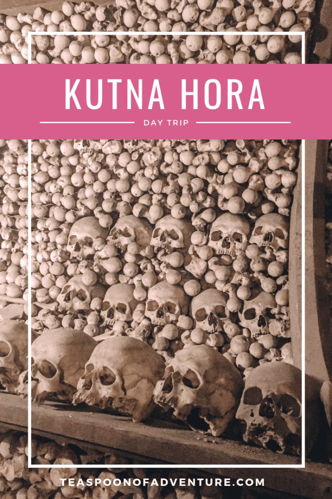 Kutna Hora is the perfect little day trip from Prague, Czech Republic. It's only an hour away, has an adorable old town, and the coolest Sedlec Ossuary! #kutnahora #prague #travel #traveltips #europe