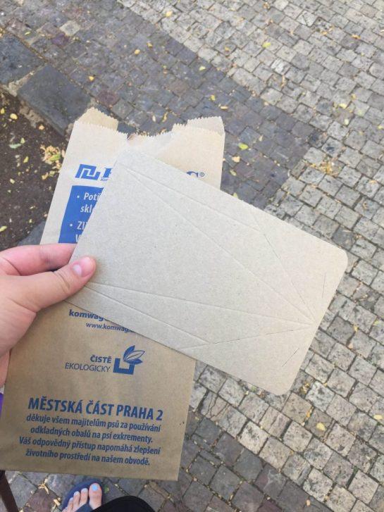 Dog bags in Prague
