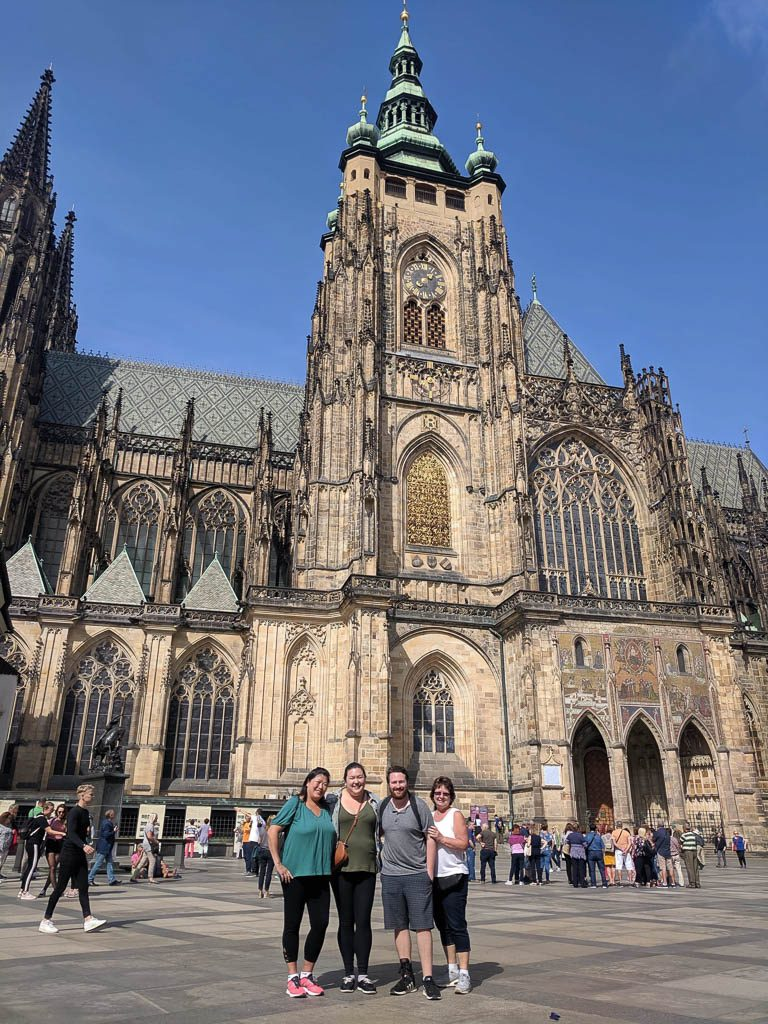 In front of St Vitus Cathedral