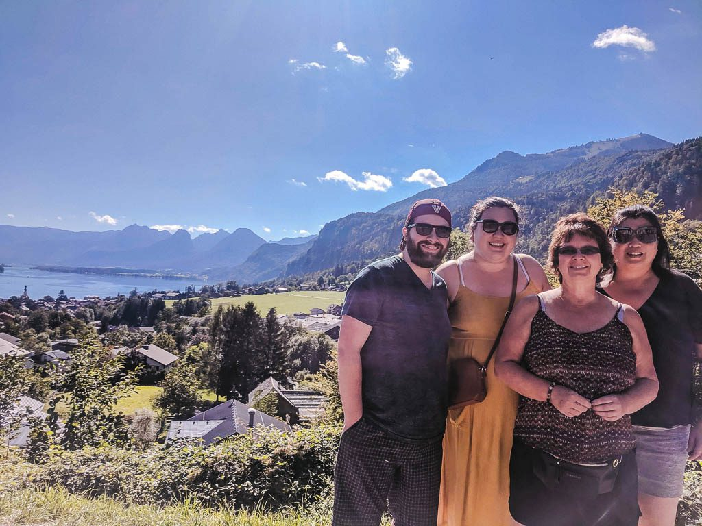 Colin, the moms and me at Salzburg Lake District