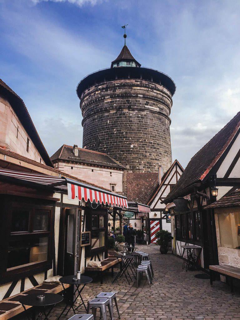 Cute fairytale area of Nuremberg