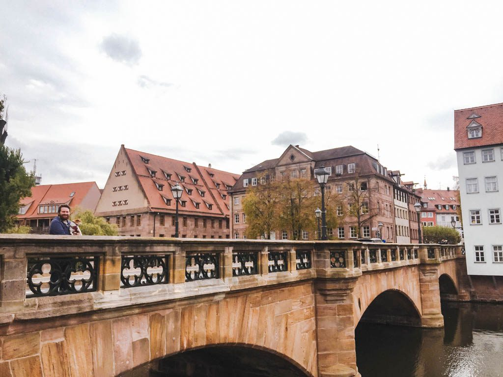 Weinstadel area in Nuremberg, Germany