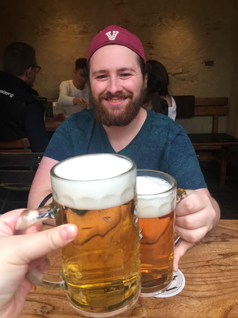 Drinking beers in Nuremberg