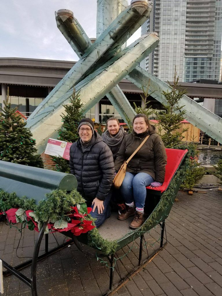 Vancouver Christmas Market with Colin and my dad