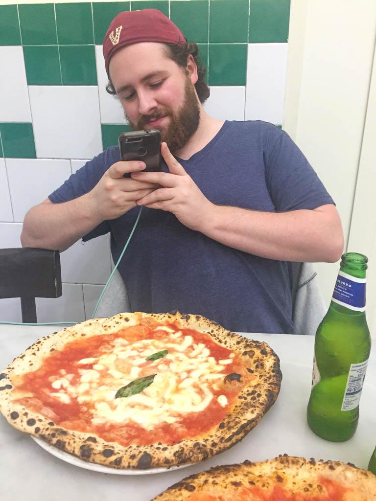 Colin at Pizzeria da Michele