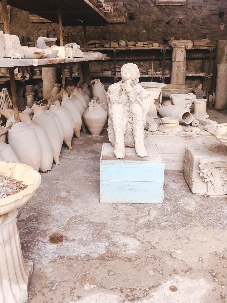 Preserved body in Pompeii, Italy