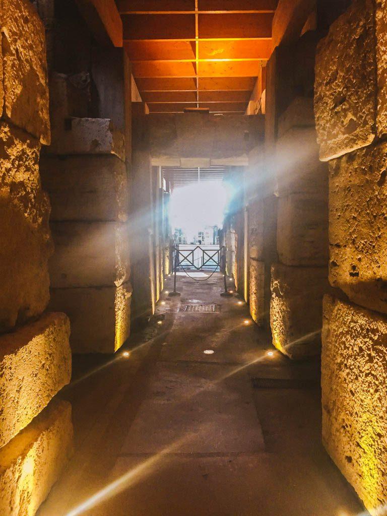 Underground Colosseum in Rome, Italy