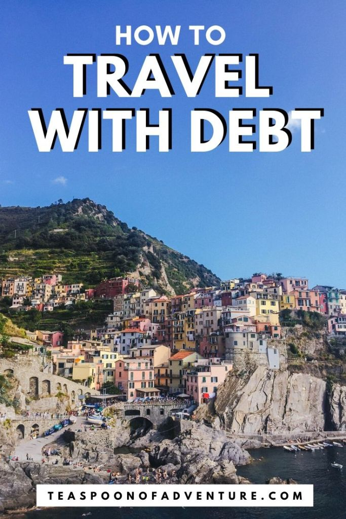 You don't have to be rich to travel but what happens if you're also in debt. Should you travel with debt? #travel #debt #traveltips #budgettravel #finance #personalfinance