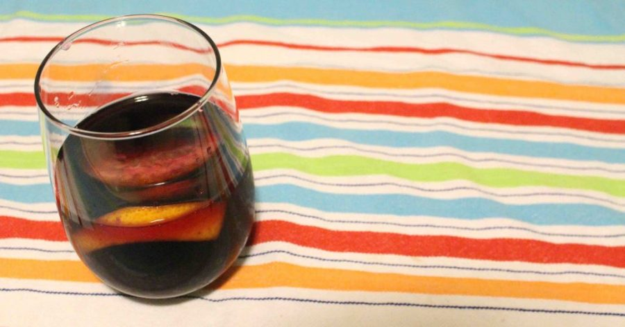 This sangria is a classic red wine cocktail that's perfect for a summer day or a girls' night!| Teaspoon of Nose