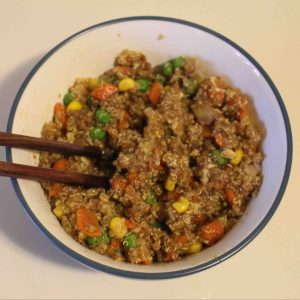 Fried rice, healthier: quinoa fried rice!