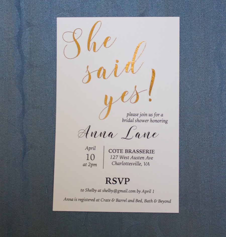 Bridal shower kit suite invitation