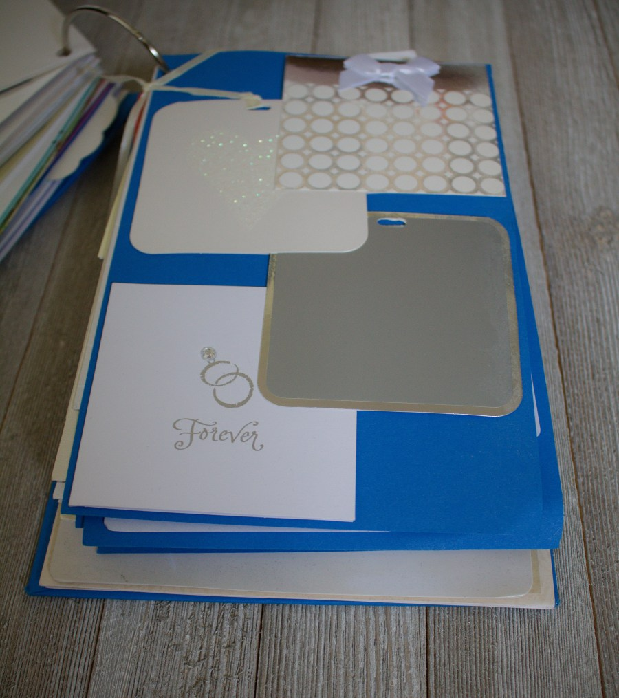 Need a way to store and save your wedding cards? Make an easy DIY card album. It comes together in an hour and turns out beautifully!