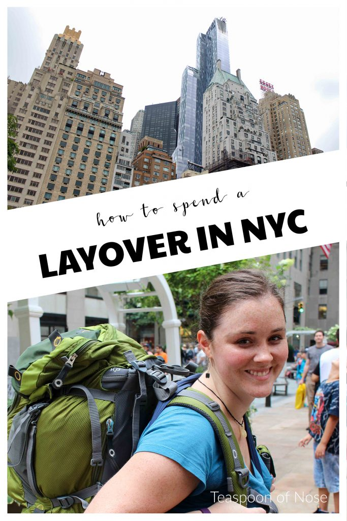 Don't waste a long layover! Here's how to spend 12 hours in NYC! | Teaspoon of Nose