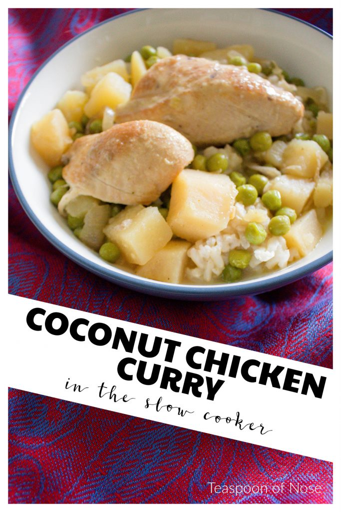 Super easy, super delicious coconut curry in the slow cooker! | Teaspoon of Nose