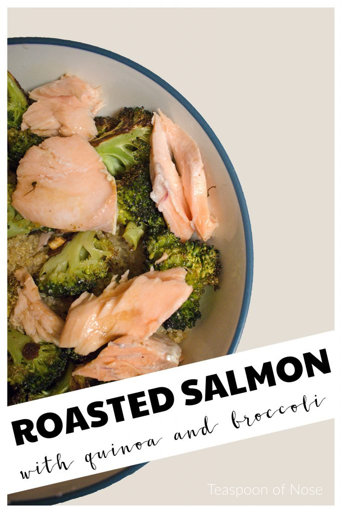 This salmon dish a healthy meal that's simple enough for a weeknight meal and nice enough for hosting! | Teaspoon of Nose