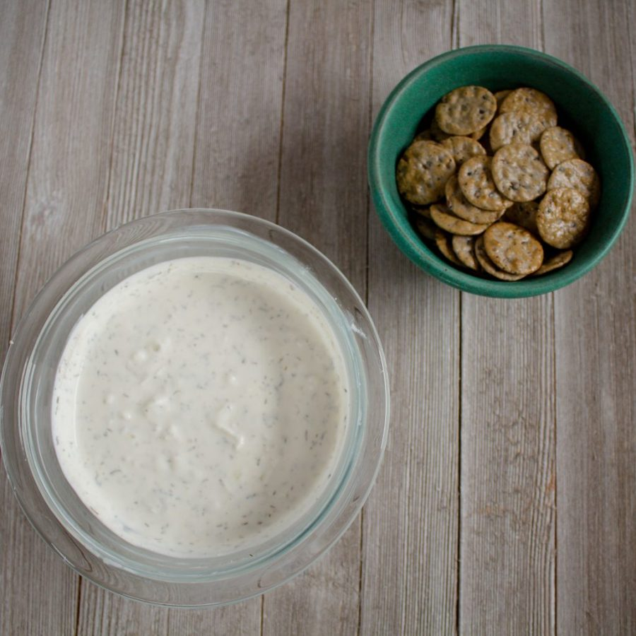 This savory Yogurt Dip is an easy appetizer that'll please any group! | Teaspoon of Nose