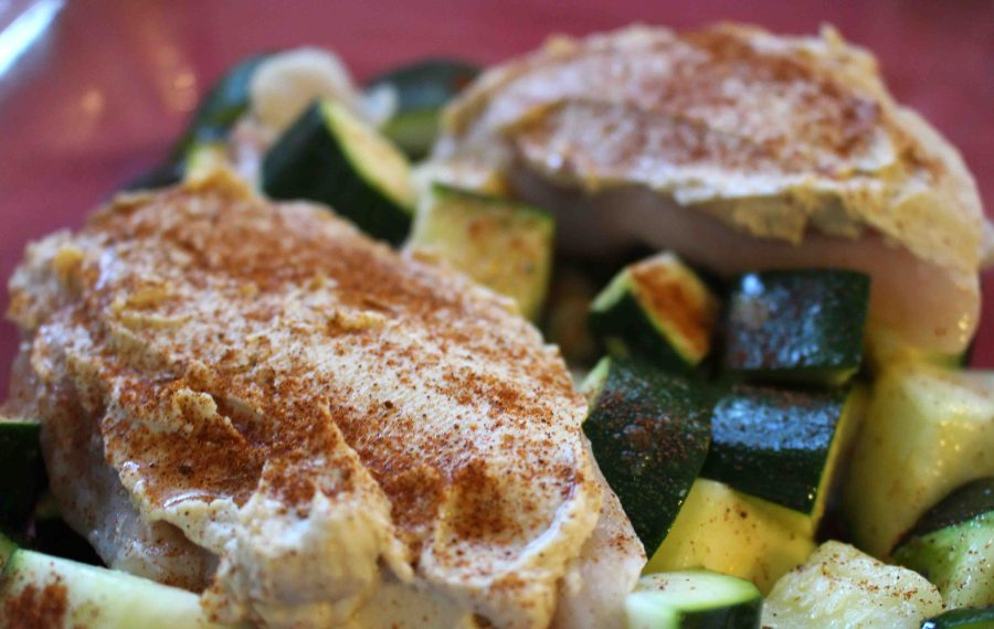Hummus crusted chicken makes a great effortless weeknight meal!   Teaspoon of Nose