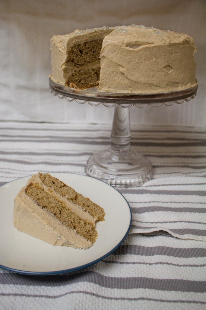 Spice cake is a perfect hygge cake, perfect for the long days of winter while we wait for spring! Topped with cinnamon cream cheese frosting, it's the perfect winter treat!