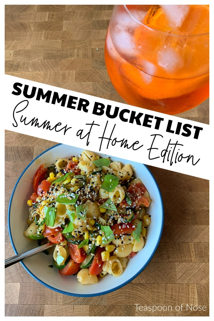 """This season's bucket list is """"summer at home"""" themed: everything you can do is close to home! Travel through books, food, and..."""