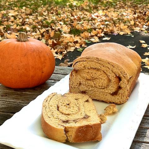 Double Pumpkin Swirl Bread