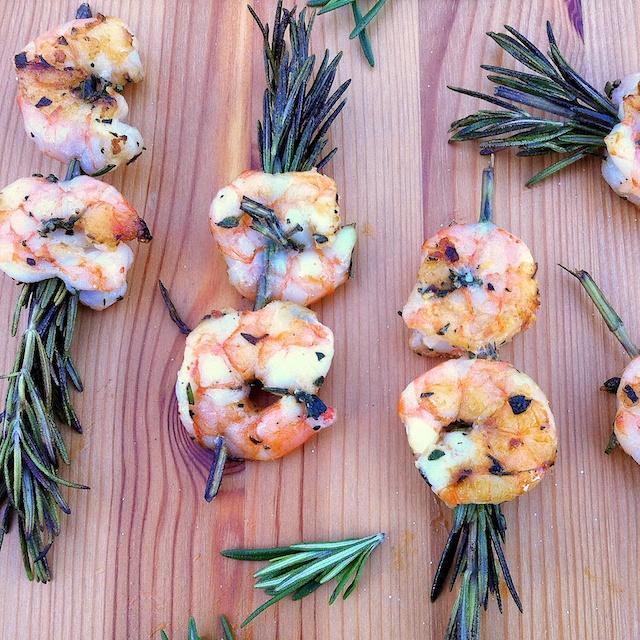 Rosemary Shrimp Skewers   Teaspoonofspice.com