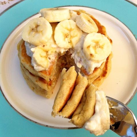 Roasted Bananas Foster Pancakes