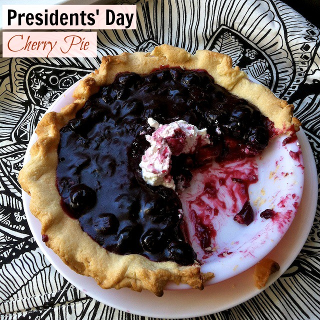 Easy as pie! A surprise ingredient in this PRESIDENTS DAY CHERRY PIE | @tspcurry
