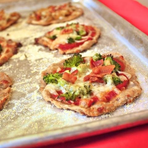 Bacon & Broccoli Pizzettes