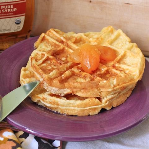 potato cheese waffles