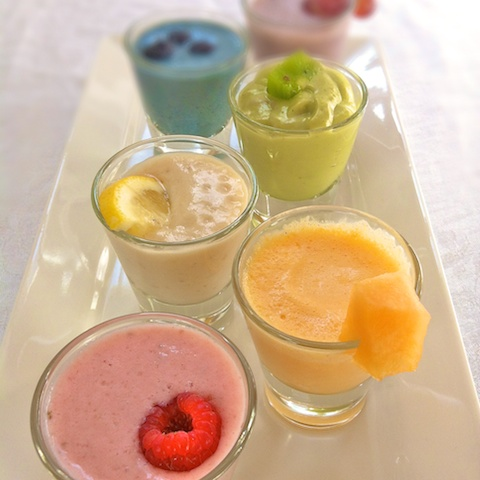 Rainbow Smoothie Sampler Tray