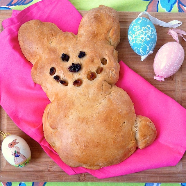 Easter Bunny Sweet Bread   Teaspoonofspice.com