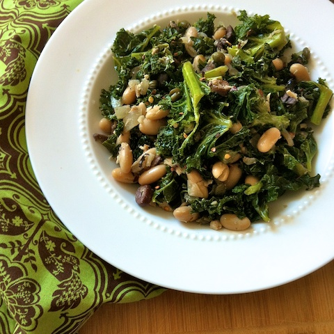Sicilian Kale with Tuna, Capers & Cannellini Beans