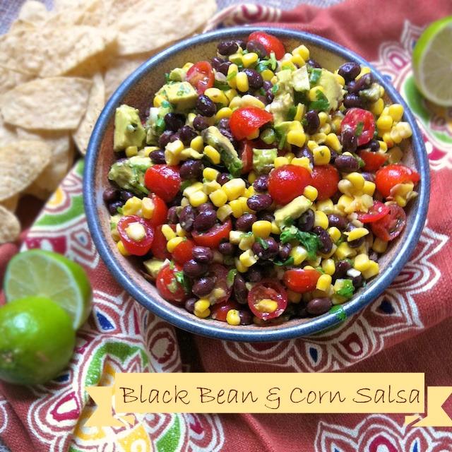 Black Bean & Corn Salsa | Teaspoonofspice.com