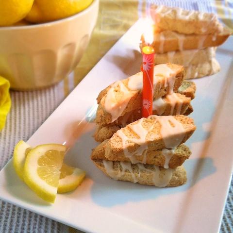 Iced Lemon Biscotti Bites for The Recipe ReDux 1st birthday