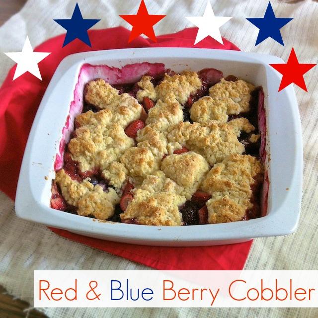 Red & Blue Berry Cobbler | Teaspoonofspice.com