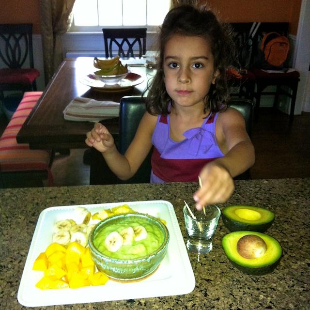 Avocado Vanilla Fruit Dip | Teaspoonofspice.com