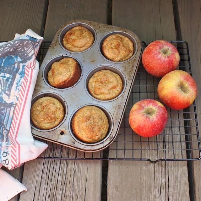 Apple Cornmeal Muffins | teaspooncomm.com/teaspoonofspice/